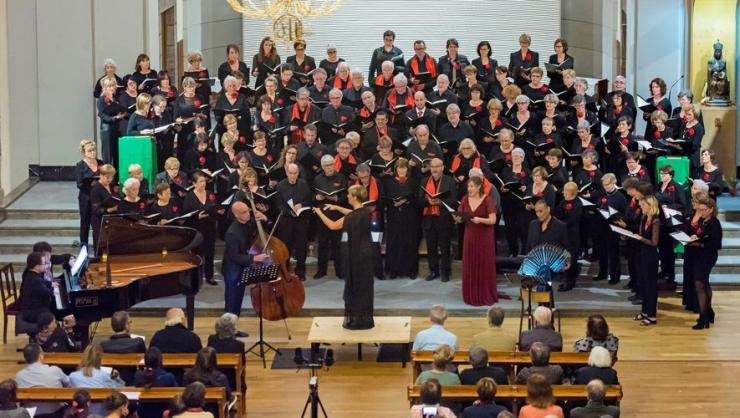 Les chœurs réunis en Cerdagne